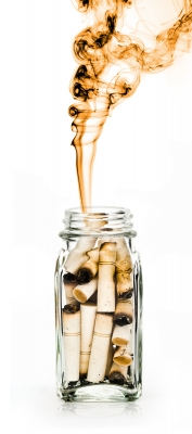 cigarettes in a jar