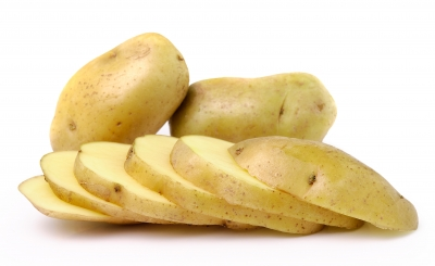 Potatoes sliced and diced
