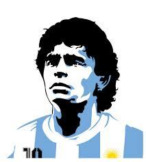 Maradona's portrait