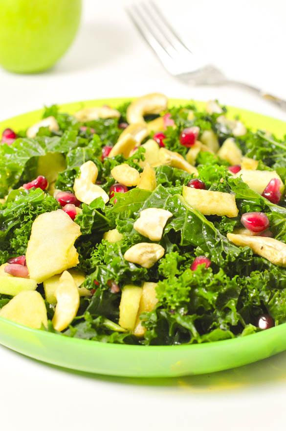 Apple kale pomegranate salad