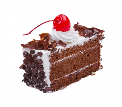 Chocolate cake with a cherry on top