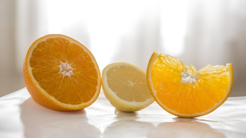 Essential oil and lemon for kitchen cleaning