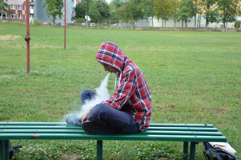 vaping outside school